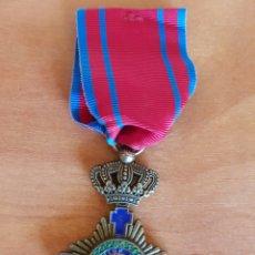 Militaria: MEDALLA INSIGNIA IN FIDE SALLUS RUMANÍA REPLICA. Lote 95823412