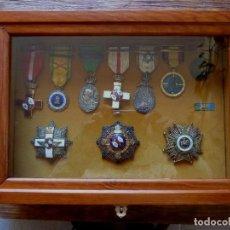 Militaria: COLECCION MEDALLAS ORIGINALES ESPAÑOLAS 1924-1969. Lote 95836623