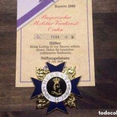 Militaria: MEDALLA ORDEN AL MERITO MILITAR BAVIERA - CON CERTIFICADO - GERMANY . Lote 98462048