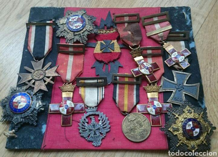 DIVISIÓN AZUL,RUSIA,GUERRA CIVIL,LOTE DE 11 MEDALLAS,ESPECTACULAR,EL QUE SE VÉ (Militar - Medallas Españolas Originales )