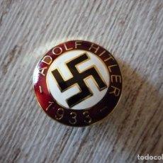 Militaria: PIN PARTIDO NAZI ADOLF HITLER 1933 ORO. Lote 96876927