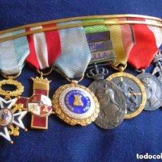 Militaria: BELLO PASADOR. ALFONSO XIII, MARRUECOS, GUERRA CIVIL, SUFRIMIENTOS POR LA PATRIA. ORDEN CARLOS III.. Lote 97163247