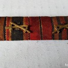 Militaria: WWII. ALEMANIA. PASADOR III REICH CUATRO MEDALLAS. Lote 97671735