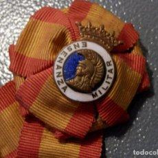 Militaria: MEDALLA ENSEÑANZA MILITAR, CON AGUJA Y FABRICANTE. Lote 98510299