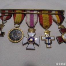 Militaria: PASADOR CON CINCO MEDALLAS. Lote 98711203