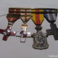 Militaria: PASADOR CON 4 MEDALLAS. Lote 98711843
