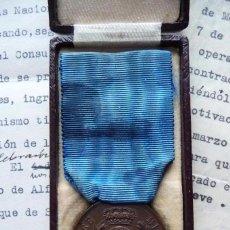 Militaria: (JX-170980)MEDALLA DE BRONCE AL VALOR MILITAR Y DOCUMENTACIÓN,TENIENTE FLECHAS AZULES (GUERRA CIVIL). Lote 98765647