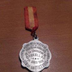 Militaria: MEDALLA GUERRA CIVIL 1ER ANIVERSARIO LIBERACIÓN DE CASTELLÓN EJÉRCITO NACIONAL DE FRANCO. Lote 98807555