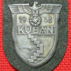 Militaria: PARCHE KUBAN 1943. SHIELD KUBAN 1943. MEDIDAS: 70 X 60 MM. Lote 132631994