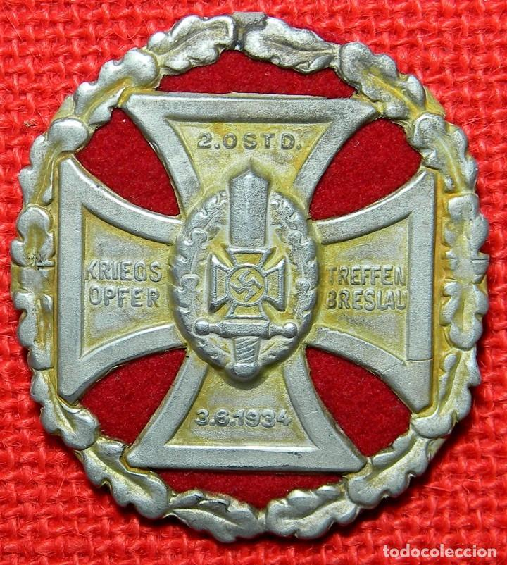 KRIEGS OPFER 2. OSTD. TREFFEN BRESLAU 3.6.1934. DIAMETRO: 60 MM. (Militar - Reproducciones y Réplicas de Medallas )