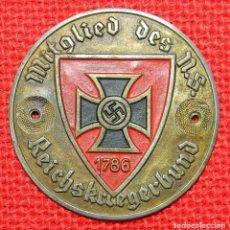 Militaria: MITGLIED DES N.S. REICHSKRIEGERBUND 1786. DIAMETRO: 60 MM.. Lote 98875807