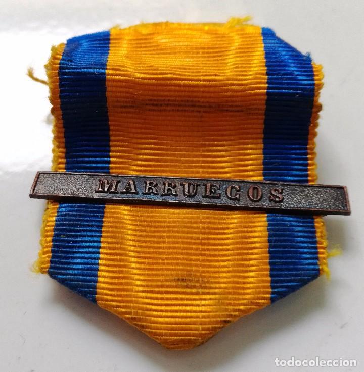 CINTA Y PASADOR MEDALLA CAMPAÑA MARRUECOS, REPÚBLICA (Militar - Cintas de Medallas y Pasadores)