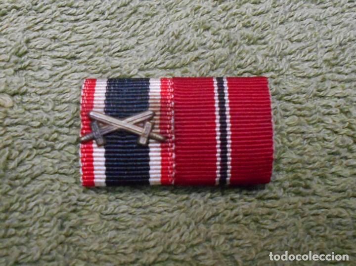 PASADOR DE DIARIO DE LA WEHRMACHT FORMADO POR DOS RIBETES DE 15MM. 100% ORIGINAL (Militar - Cintas de Medallas y Pasadores)