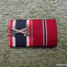 Militaria: PASADOR DE DIARIO DE LA WEHRMACHT FORMADO POR DOS RIBETES DE 15MM. 100% ORIGINAL. Lote 98980919