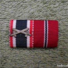 Militaria: PASADOR DE DIARIO DE LA WEHRMACHT FORMADO POR DOS RIBETES DE 15MM. 100% ORIGINAL. Lote 98980999