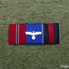 Militaria: PASADOR DE DIARIO DE LA WEHRMACHT FORMADO POR TRES RIBETES DE 15MM. 100% ORIGINAL. Lote 98981155