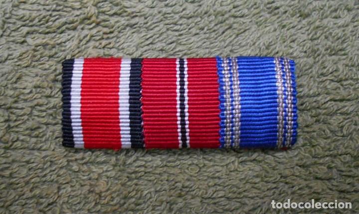 PASADOR DE DIARIO DE LA WEHRMACHT FORMADO POR TRES RIBETES DE 15MM. 100% ORIGINAL (Militar - Cintas de Medallas y Pasadores)