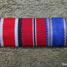 Militaria: PASADOR DE DIARIO DE LA WEHRMACHT FORMADO POR TRES RIBETES DE 15MM. 100% ORIGINAL. Lote 98981275