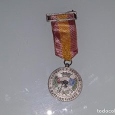 Militaria: ANTIGUA MEDALLA DE PLATA DEPORTE Y DEFENSA - MAESTRO TIRADOR - TIRO OLIMPICO CATEGORIA PLATA. Lote 99440731