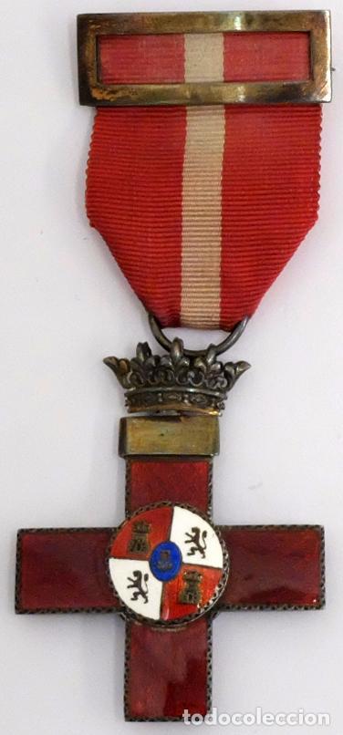 CRUZ EN PLATA AL MÉRITO MILITAR, DISTINTIVO ROJO. GUERRA CIVIL (Militar - Medallas Españolas Originales )