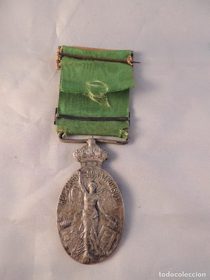 Militaria: MEDALLA MILITAR ORIGINAL DE PLATA DE GUERRA DE MARRUECOS PASADOR LARACHE - Foto 3 - 99872955