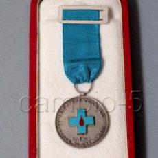Militaria: MEDALLA DE LA HERMANDAD DE DONANTES DE SANGRE DE LA S.S. - VALENCIA - CON CAJA. Lote 100216631