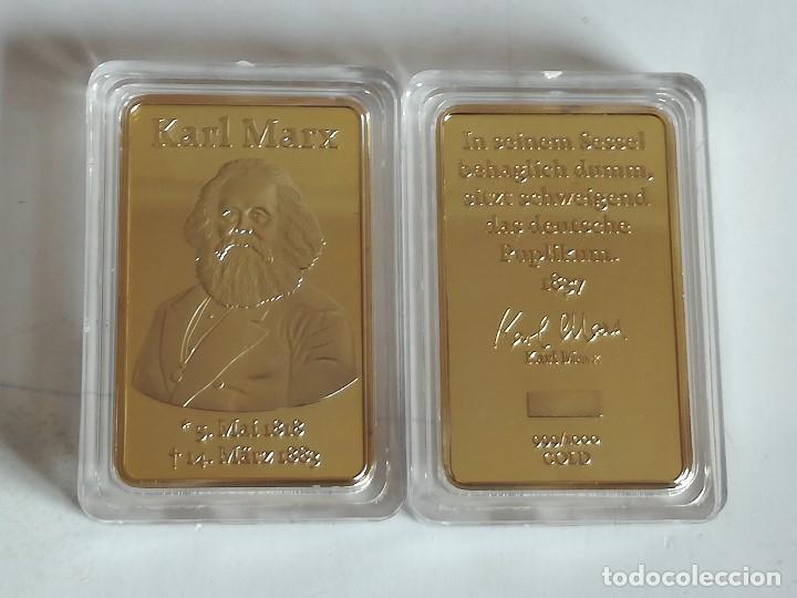 MEDALLA KARL MARX. 1818-83. MARXISMO. COMUNISMO (Militar - Medallas Internacionales Originales)