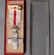 Militaria: MEDALLA DE PLATA 1976, - BIFACIAL -DISTINTIVO BLANCO DE LA ORDEN DEL MÉRITO MILITAR. CON CAJA. Lote 101155015