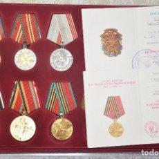 Militaria: LOTE 3 DE 12 MEDALLAS SOVIETICOS PARA UNA VETERANA BELOGAEVA .URSS. Lote 101551870