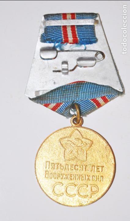 Militaria: Medalla del 50è Aniversarios de les Fuerces Armadas Sovièticas con papeles .URSS - Foto 4 - 101551923