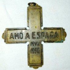 Militaria: AMO A ESPAÑA, MEDALLA GUERRA CIVIL. Lote 193963442