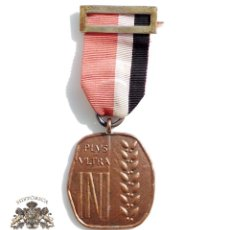 Militaria: MEDALLA DEL INI. CATEGORIA DE BRONCE. 20 AÑOS DE SERVICIO. INSTITUTO NACIONAL DE INDUSTRIA. FALANGE. Lote 102090467