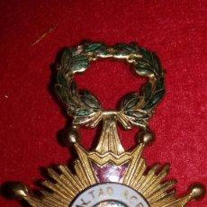 Militaria: CONDECORACION CRUZ LEALTAD ACRISOLADA ISABEL LA CATOLICA XIX.CON BROCHE.SEÑALES DE USO,TAL COMO SE V. Lote 102102443