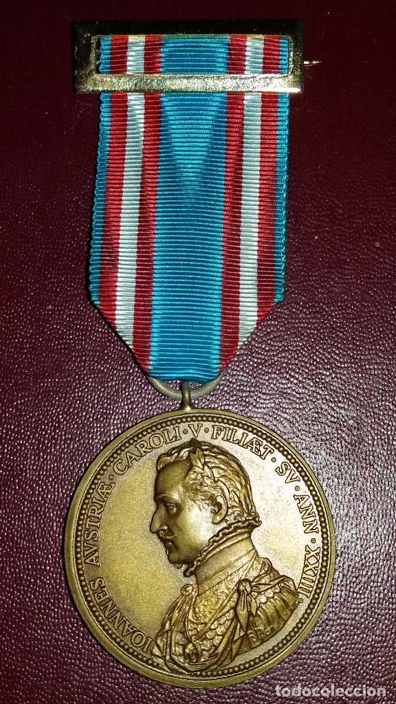 CONDECORACION MEDALLA IV CENTENARIO DE LA BATALLA DE LEPANTO (Militar - Medallas Españolas Originales )