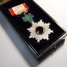 Militaria: BELLISIMA MEDALLA JAPONESA PLATA MACIZA Y ESMALTES ORDEN SOL NACIENTE 6ª CLASE.2ª GUERRA MUNDIAL.. Lote 102338003