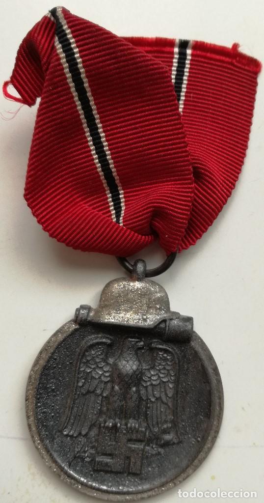 MEDALLA CAMPAÑA INVIERNO DEL ESTE. CAMPAÑA DE RUSIA. 1941-1942. OSTMEDAILLE. DIVISIÓN AZUL ALEMANIA (Militar - Medallas Españolas Originales )
