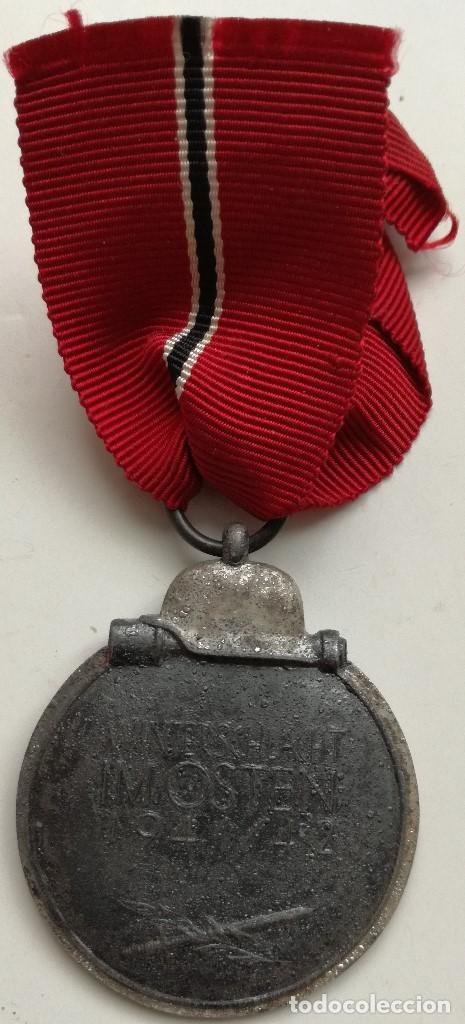 Militaria: Medalla Campaña Invierno del Este. Campaña de Rusia. 1941-1942. Ostmedaille. División Azul Alemania - Foto 4 - 102810871