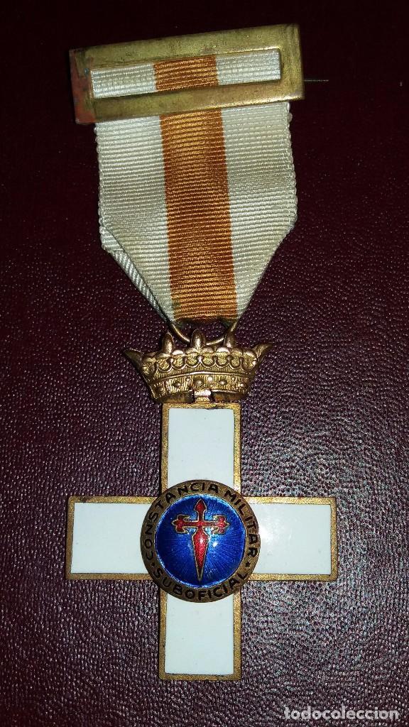 CONDECORACION CRUZ CONSTANCIA MILITAR, EPOCA FRANCO (Militar - Medallas Españolas Originales )
