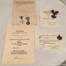 Militaria: LOTE DE ALEMÁN III REICH MEDALLAS Y CONCESIONES BOMBEROS. Lote 102871515
