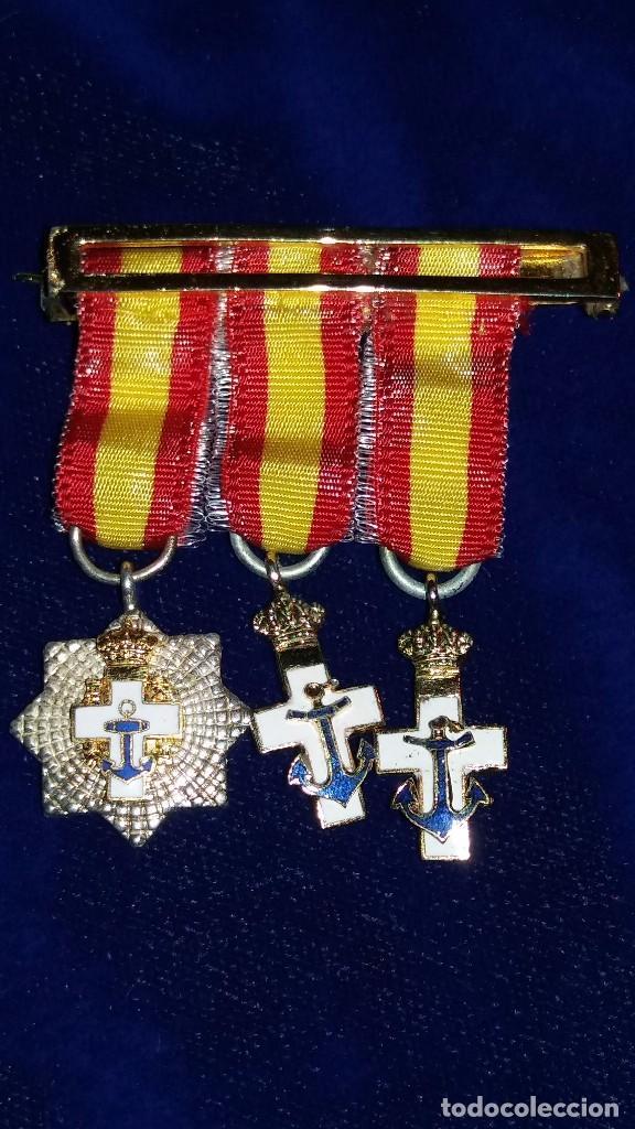PASADOR CONDECORACIONES MINIATURA MEDALLAS (Militar - Medallas Españolas Originales )