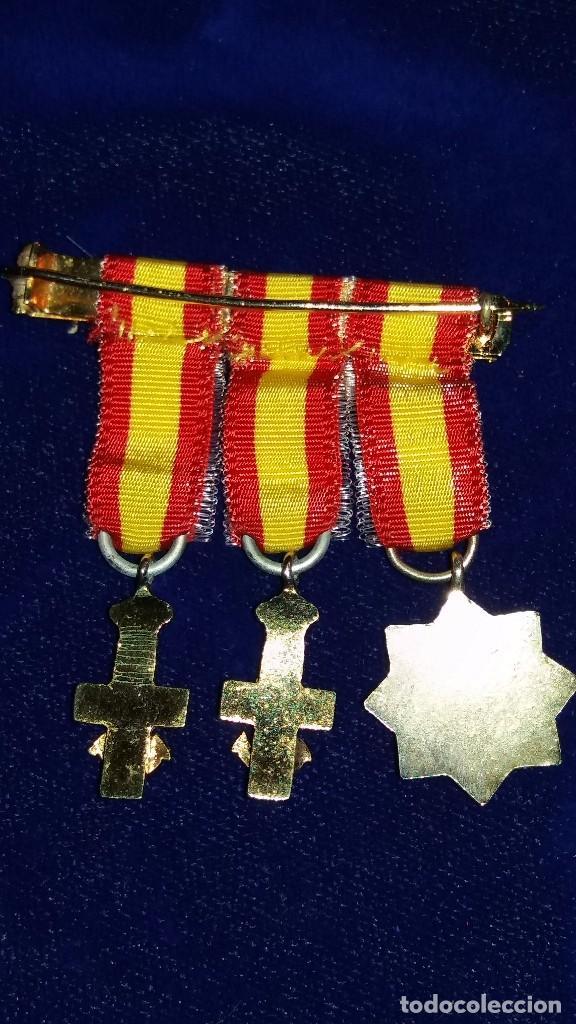 Militaria: PASADOR CONDECORACIONES MINIATURA MEDALLAS - Foto 2 - 103219927