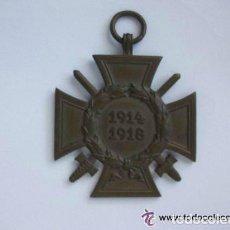 Militaria: MEDALLA CRUZ DE HONOR , HINDEMBURG , PARA COMBATIENTES DE LA 1ª GUERRA MUNDIAL, ALEMANIA. Lote 40806816