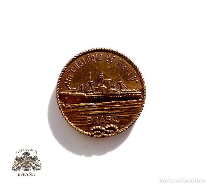 MEDALLA NUESTRA CUSTODIA DE MELLO. BRASIL VIAJE INSTRUCIÓN GUARDIA MARINAS - 1959- 3,5 CM DIÁMETRO (Militar - Medallas Internacionales Originales)