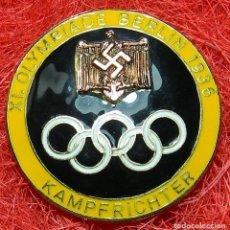 Militaria: INSIGNIA JUEZ XL OLIMPIADE BERLIN 1936 - METAL Y ESMALTE - MARCAJE FABRICANTE . Lote 141954028