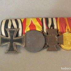 Militaria: PRIMERA GUERRA MUNDIAL. CUATRO MEDALLAS CON SU CINTA ORIGINAL. ALEMANIA 1914 - 1918. Lote 103537595
