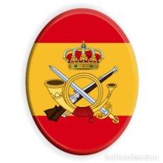 Militaria: AZULEJO OVALADO CON EL EMBLEMA DE LA INFANTERIA DE MARINA Y BANDERA ESPAÑOLA. Lote 103831235