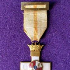 Militaria: CRUZ AL MÉRITO MILITAR. DISTINTIVO BLANCO. CORONA IMPERIAL. ORIGINAL. 1938-55. MEDALLA-CONDECORACION. Lote 103854431