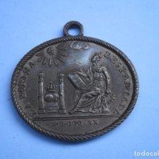 Militaria: MEDALLA CONSTITUCION 1820-ESPAÑA DESPERTADA, MODELO EN BRONCE (COMO TODAS). Lote 103980711