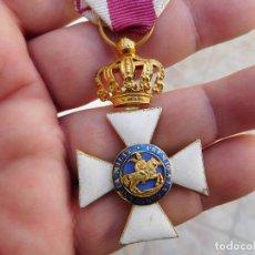 Militaria: CRUZ DE LA REAL ORDEN DE SAN HERMENEGILDO ÉPOCA FERNANDO VII ORO 18K. Lote 104026811