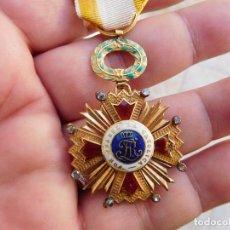 Militaria: ORDEN DE ISABEL LA CATÓLICA ÉPOCA FERNANDO VII ORO 18K Y DIAMANTES. Lote 104027415